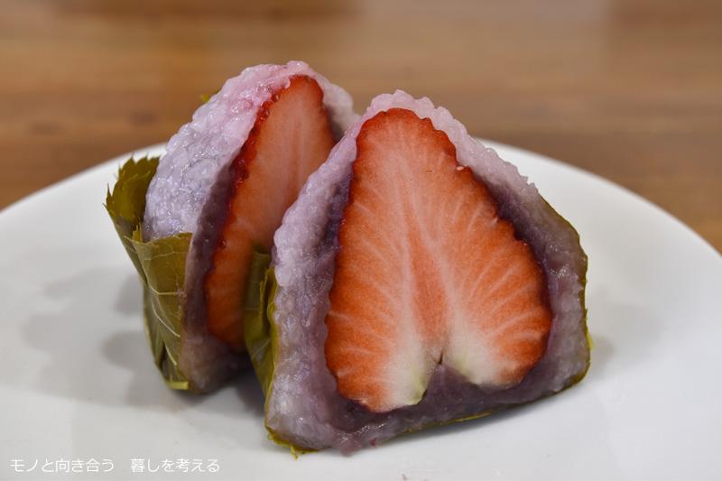 夢果房たからの苺さくら餅