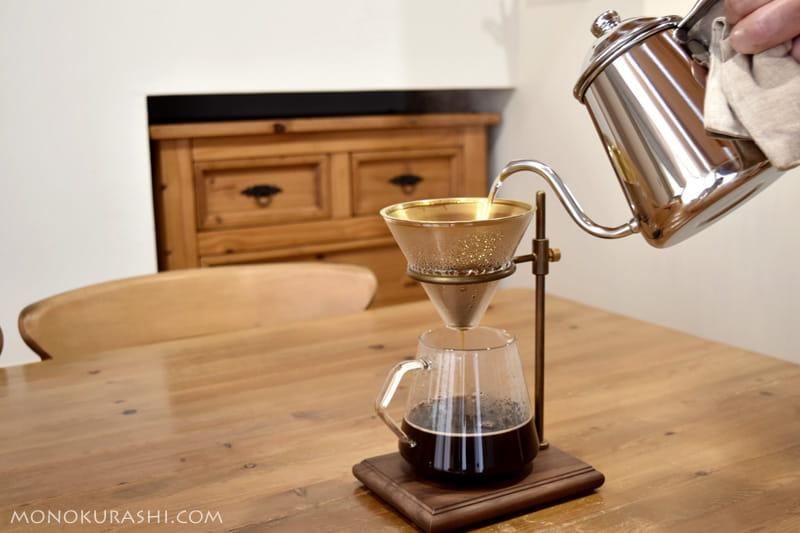 ブリューワースタンドをつかって、コーヒーを入れる