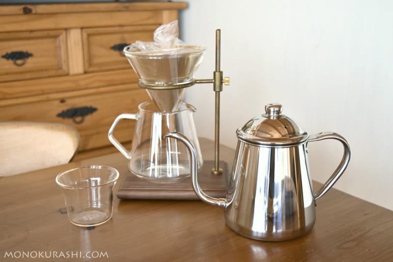 KINTOのブリューワースタンドセットとタカヒロのコーヒーケトル