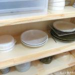 キッチン収納の見直し(2) 新しい食器棚。収納はゆとりをもつようにする