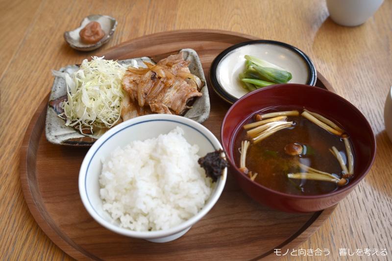d47食堂「山形定食」山伏豚の生姜焼き