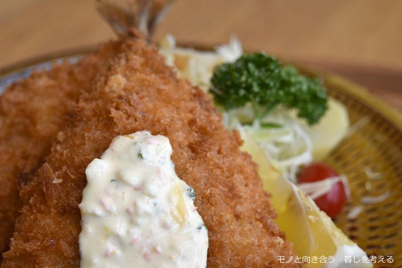 d47食堂「長崎定食」松浦港のアジフライ