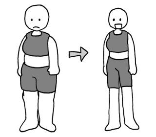 ダイエットに成功して急激に痩せる