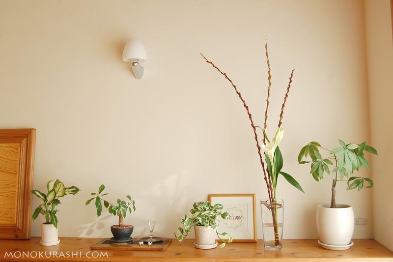 玄関の花飾り