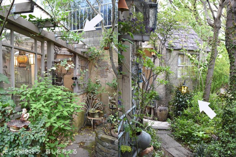 ハーバルハウスのパティオや小屋