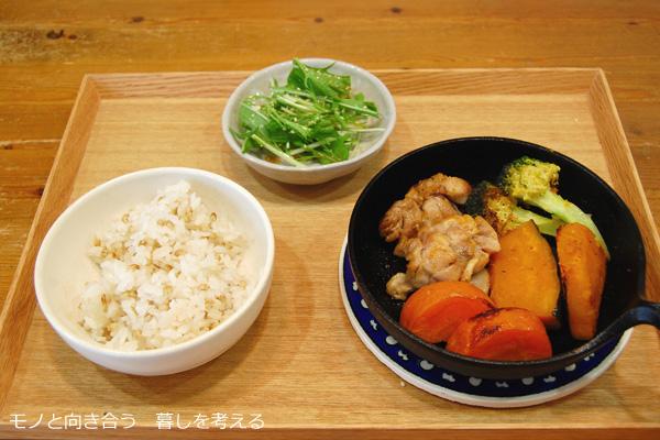 ひとりごはん、鶏肉と野菜の焼き物