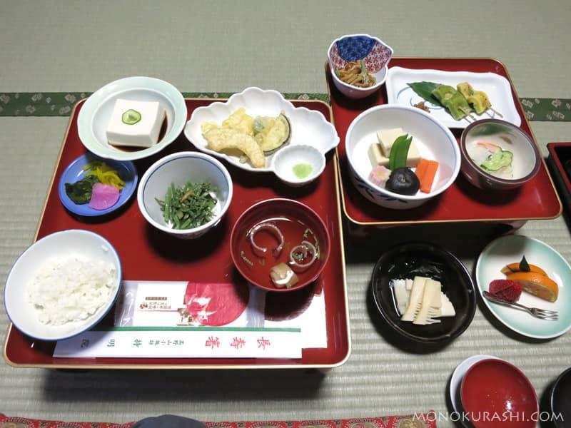 高野山 持明院の精進料理