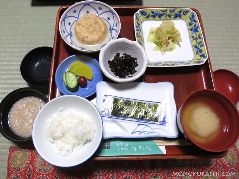 高野山 持明院の朝食