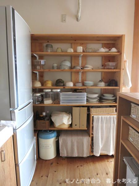 食器棚no代わりに使っているオープン棚