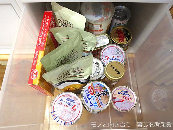 缶詰の収納