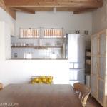 キッチン収納の見直し(9) 新しい食器棚がきて、キッチンはこんなふうに変わりました