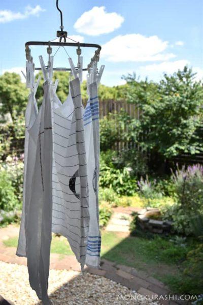 リネンのふきんをお洗濯