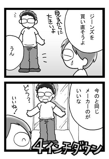 痩せてジーンズのサイズが変わった