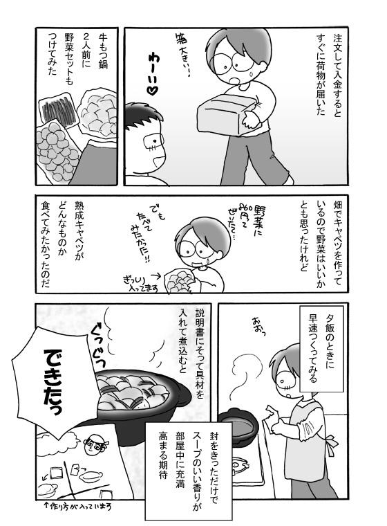 福岡・赤門屋のもつ鍋お取り寄せ(2)