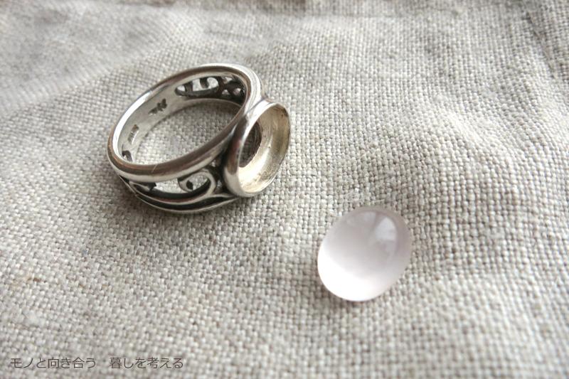 石が取れた指輪