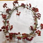 赤い実がかわいいサンキライでクリスマスリースを手作りする