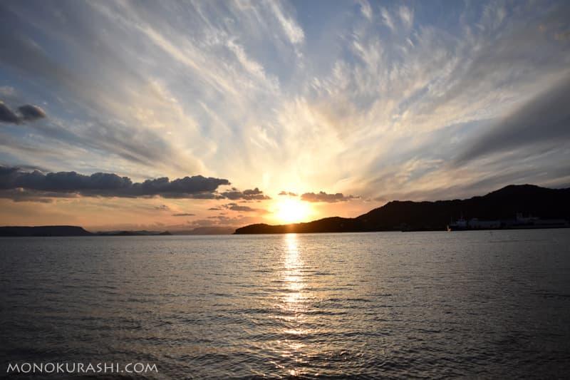 小豆島 エンジェルロードの夕陽
