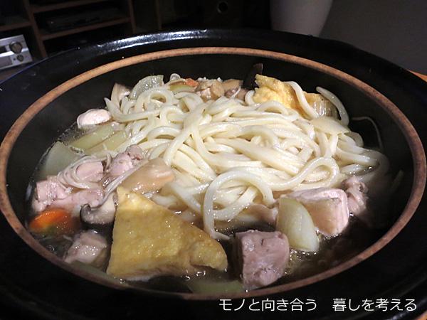 もつ鍋スープで作ったうどんすき