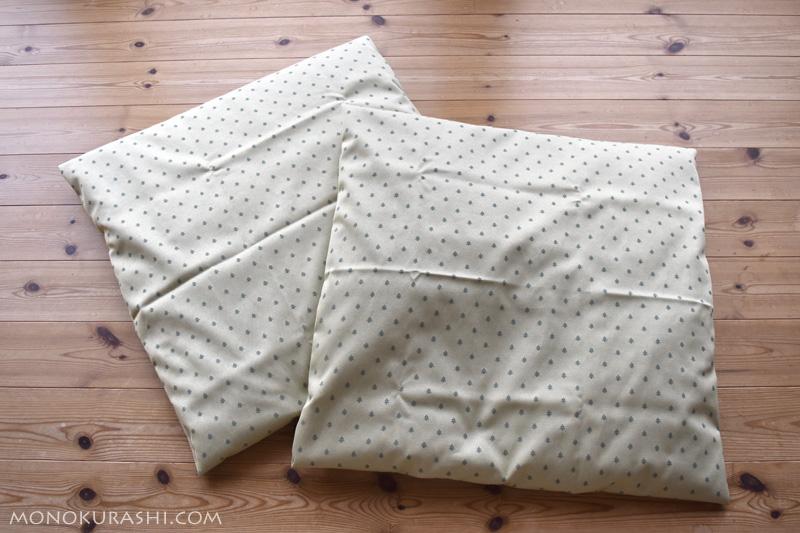 新しく作った座布団カバー