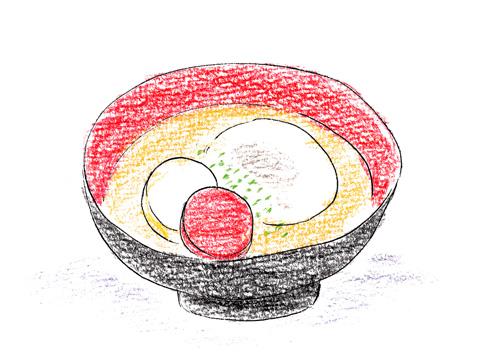 香川の白味噌餡餅雑煮